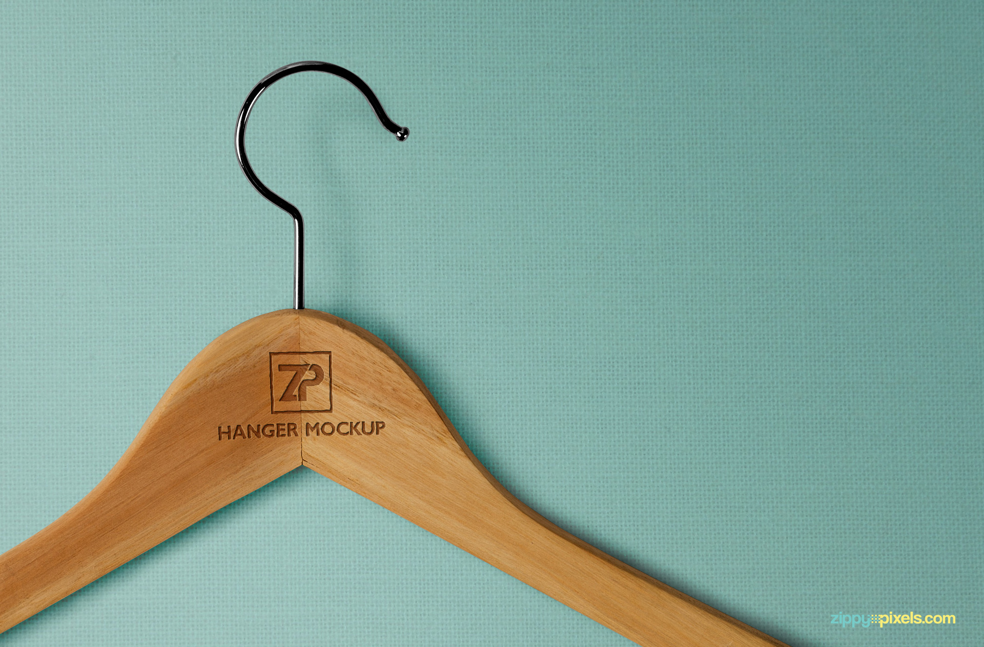 Free hanger mockups to compliment your clothing brand designs.
