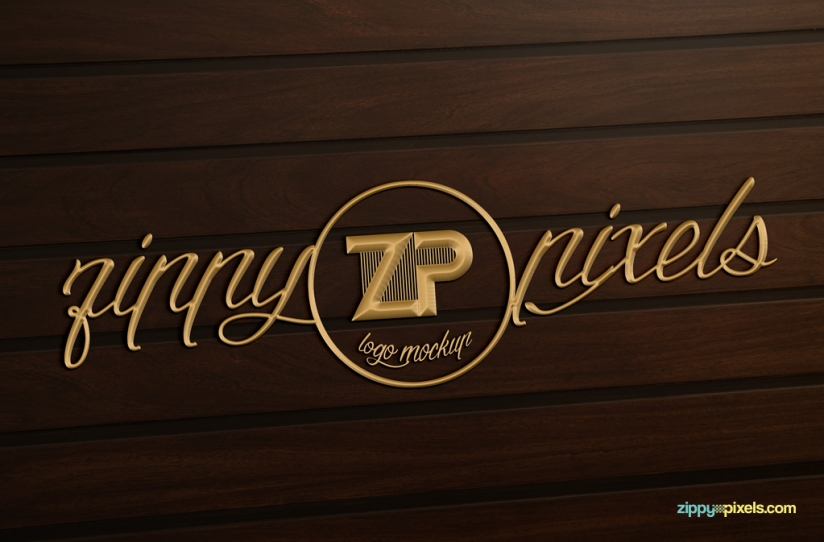 Free photorealistic logo mockup for your creative logo designs.