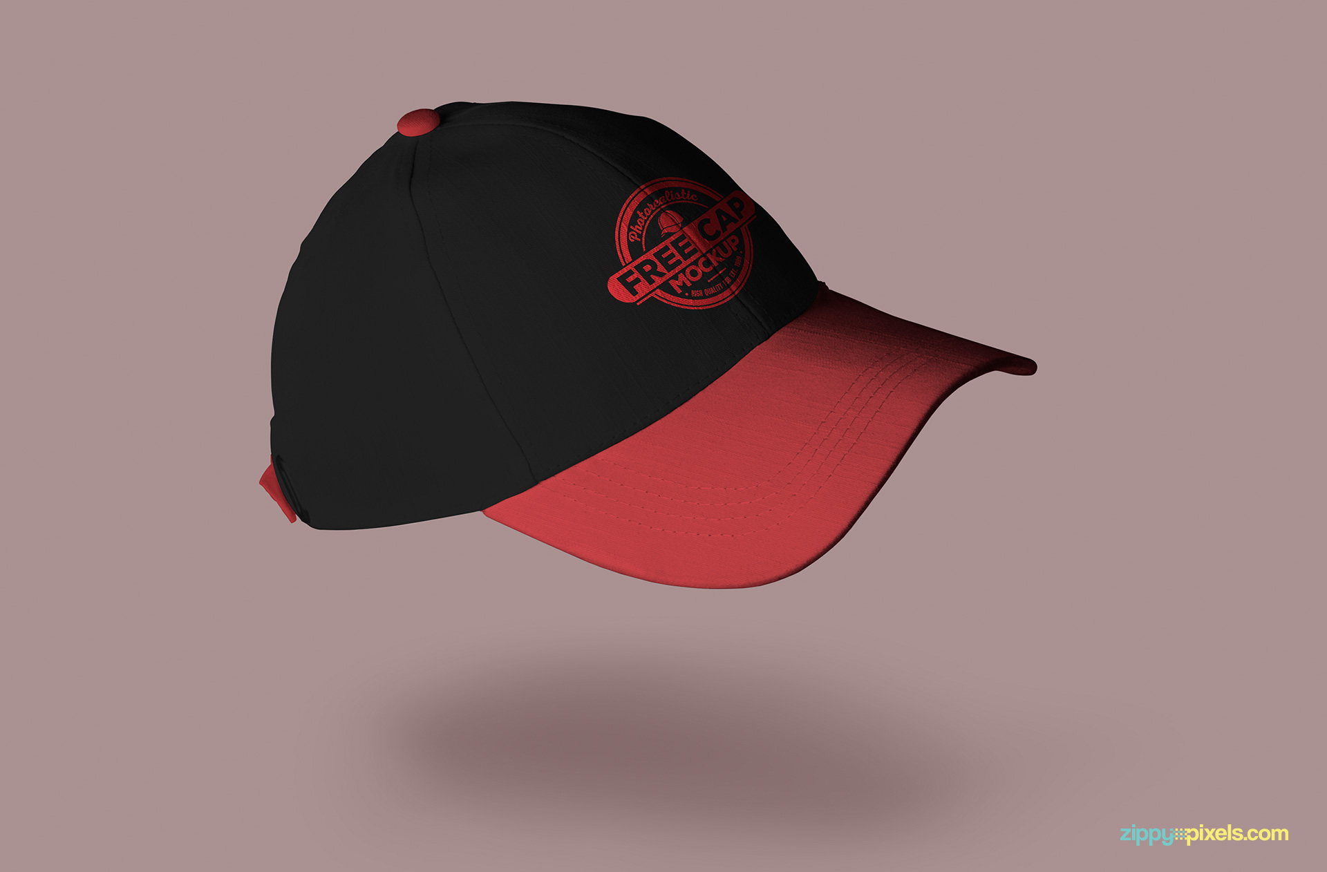 Cap mockup with 2 logo design options.