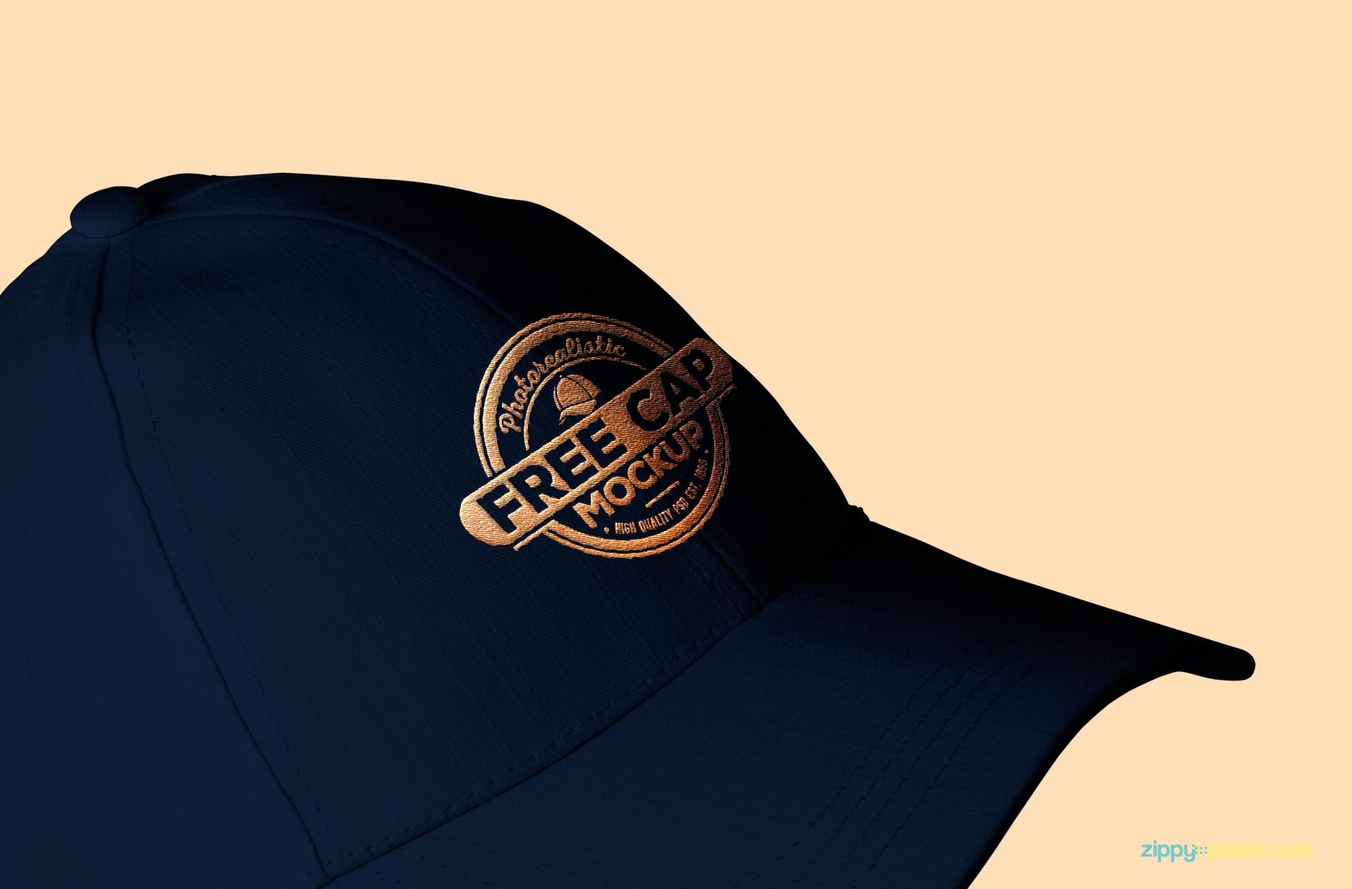 Free baseball cap PSD mockup.