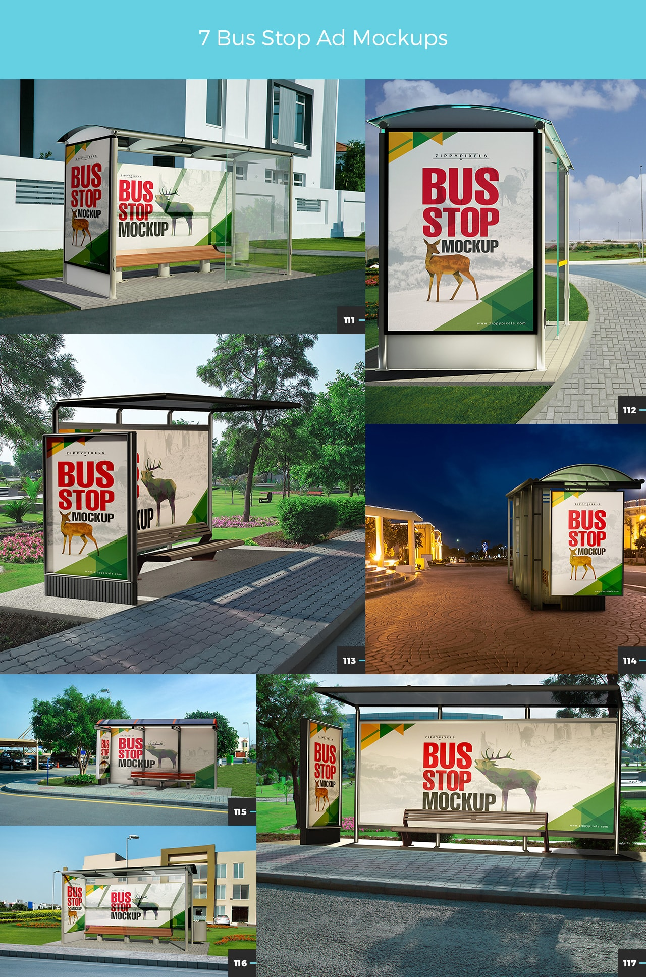 06 7 BUS STOP AD MOCKUPS