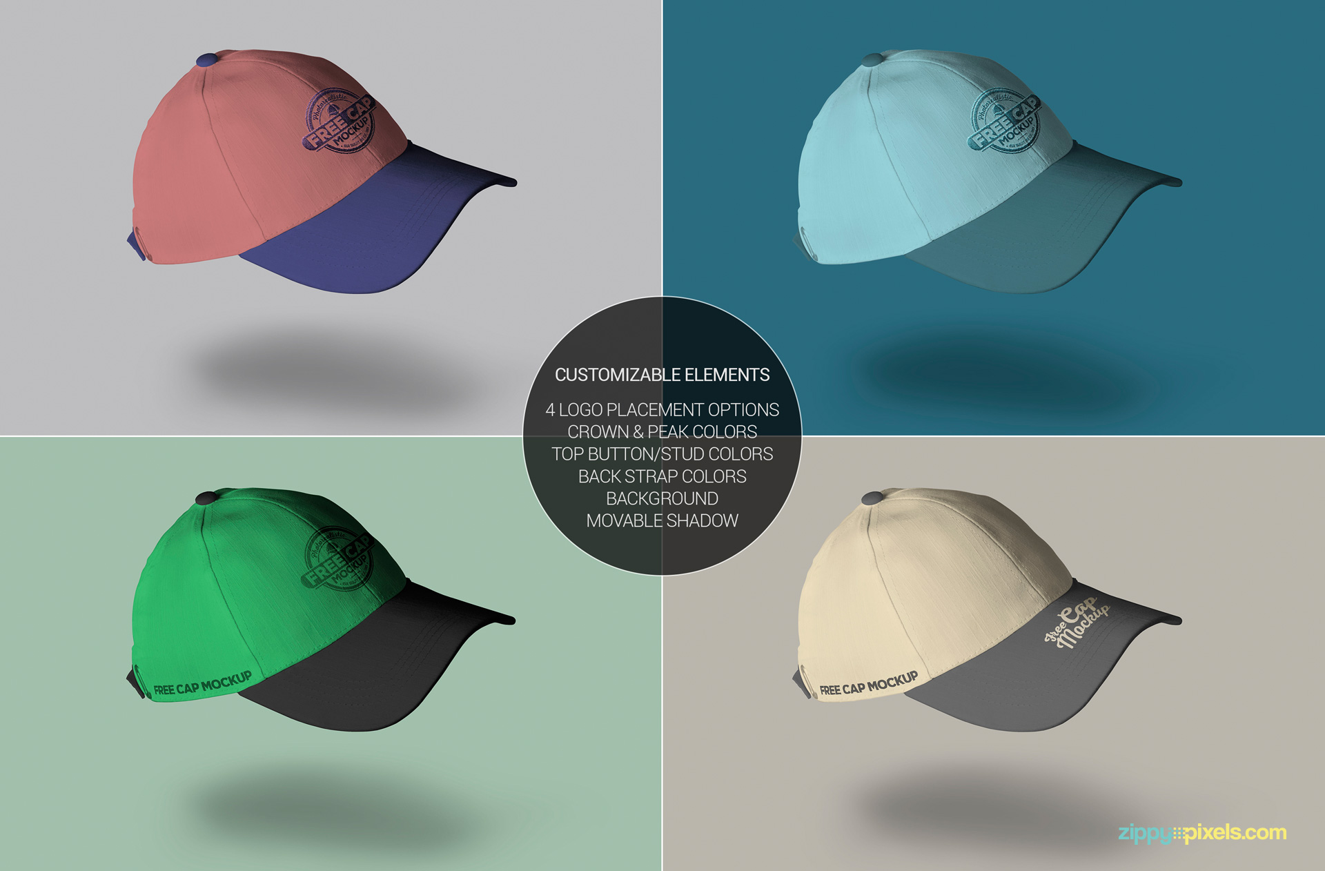 Cool free cap mockup to showcase your promotional and branding designs.