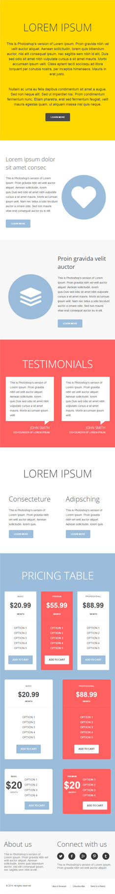 ontheway second half awesome-newsletter template with psd