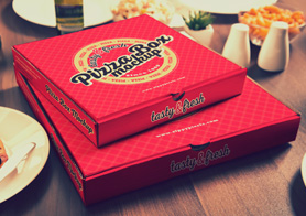 15 Yummy Pizza Box Mockups Vol. 1