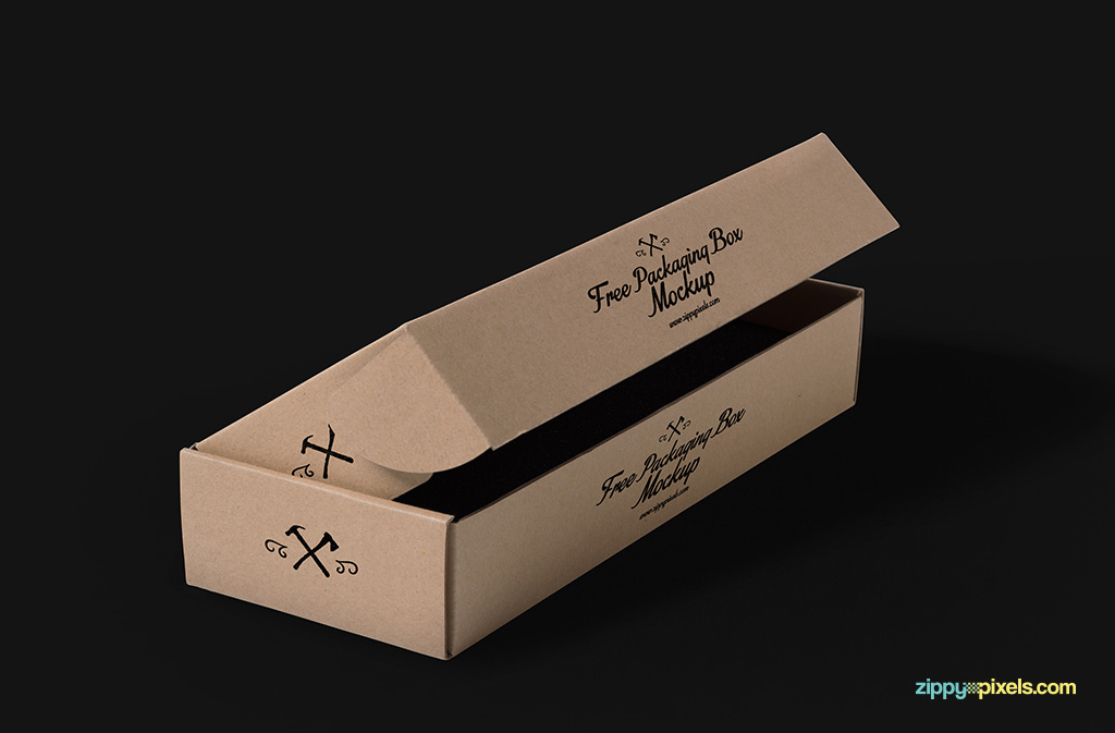 Free product packaging psds with customizable background.
