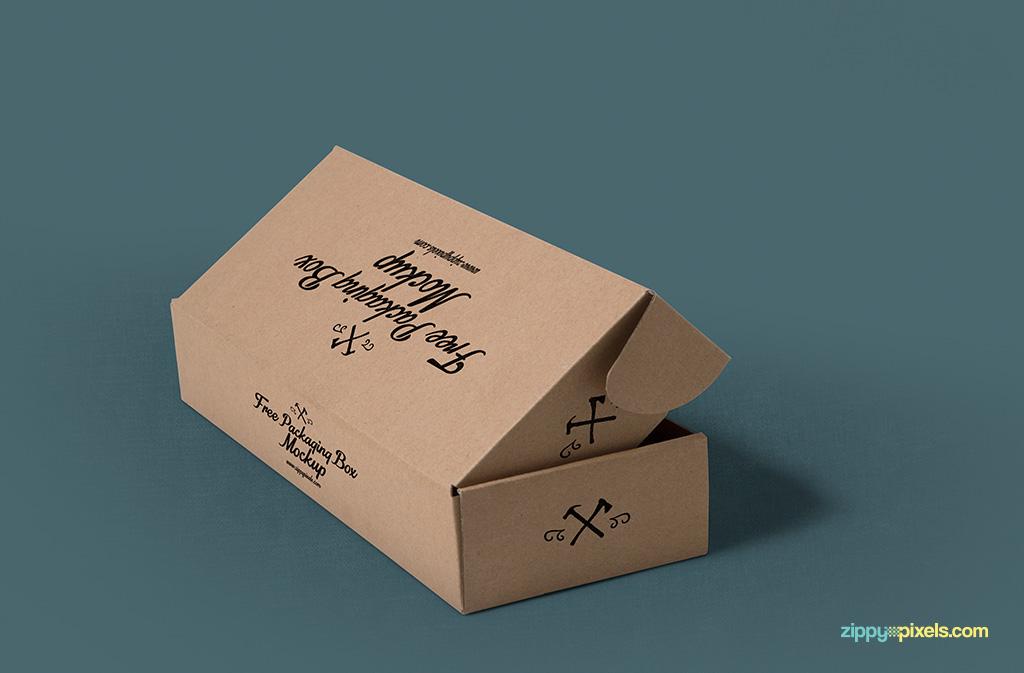 Packaging mockups in landscape layout.