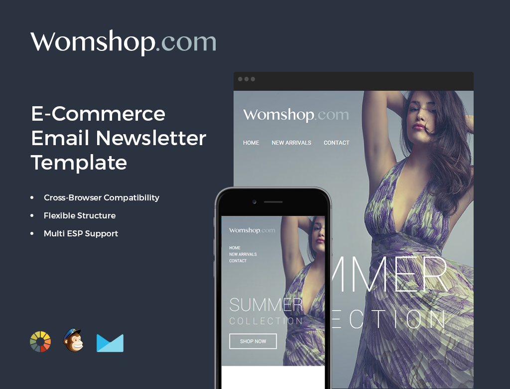 MailChimp and Campaign Monitor compatible newsletter templates.