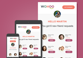 WohooII – Beautiful Email Notification Template