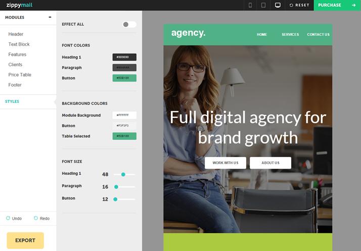 agency editable newsletter template design