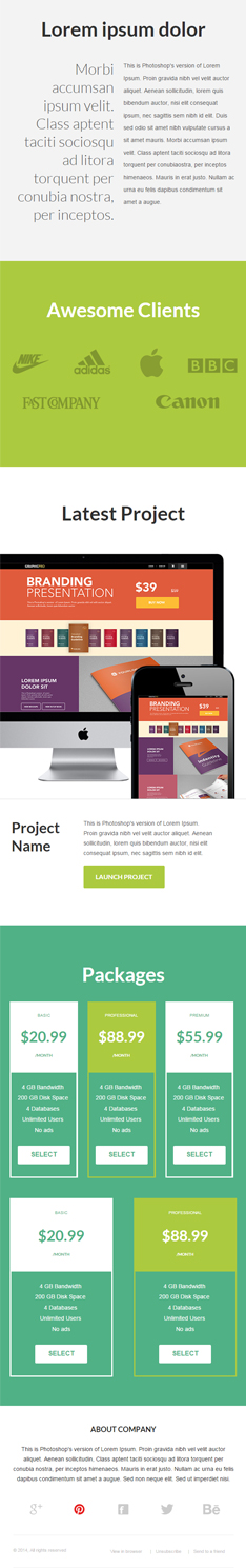agency second half marketing email template