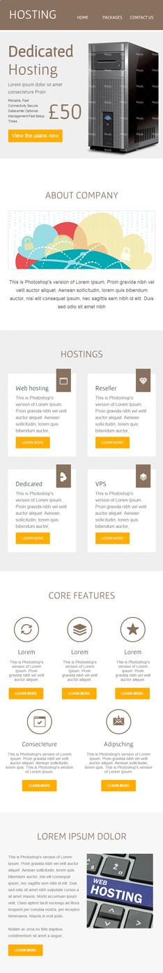 hosting first half newsletter-template for hosting services