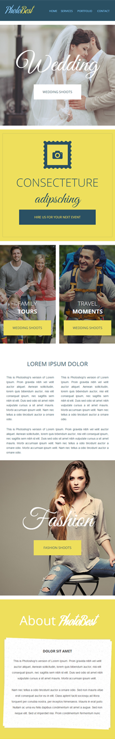 photobest first half newsletter template for photography