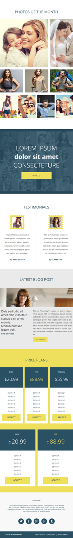 photobest second half email template with clean and professional design