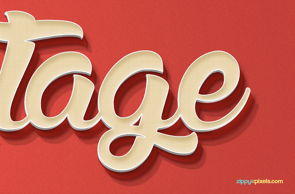 03 psd text effect free vintage