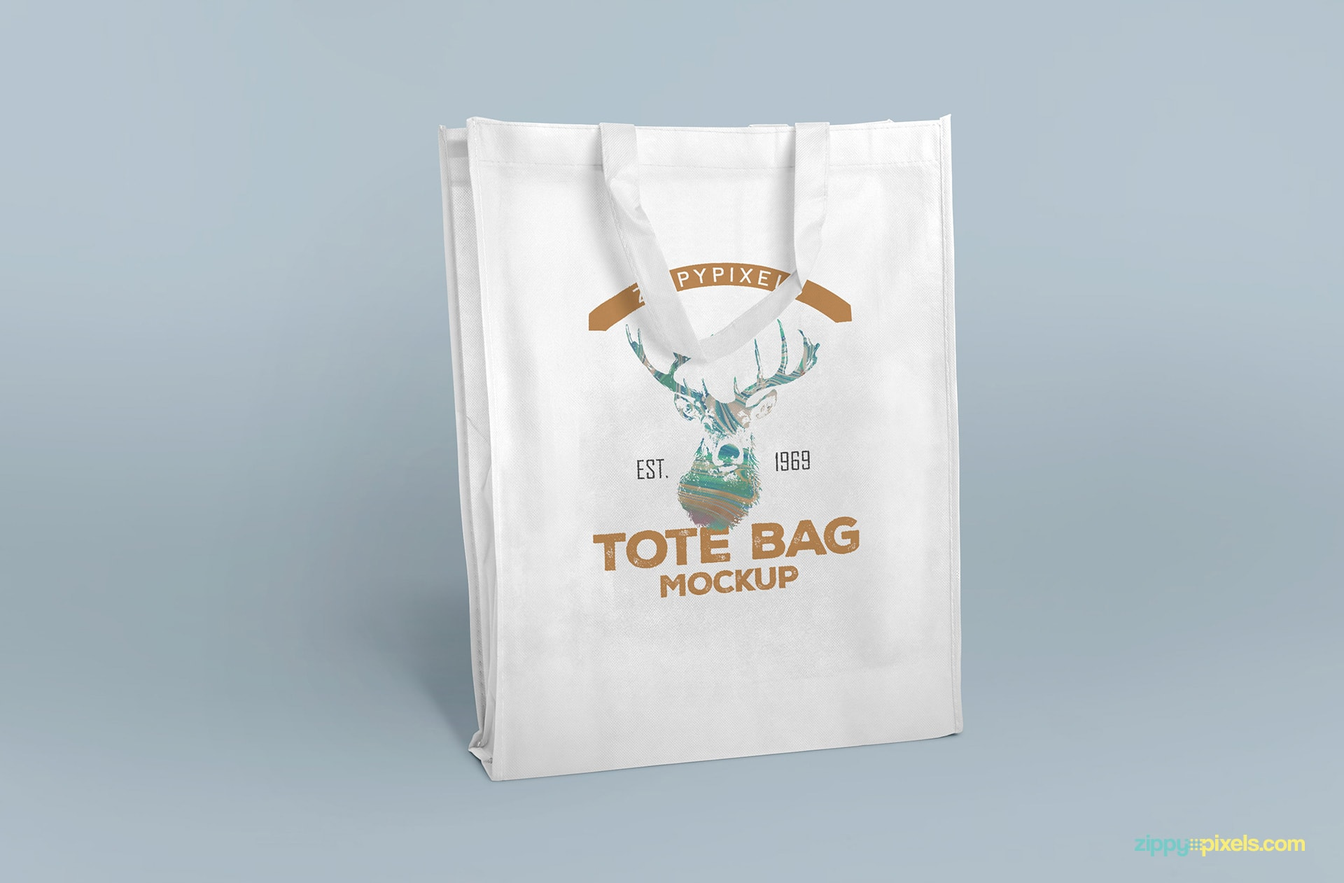 Free tote bag with full front branding design