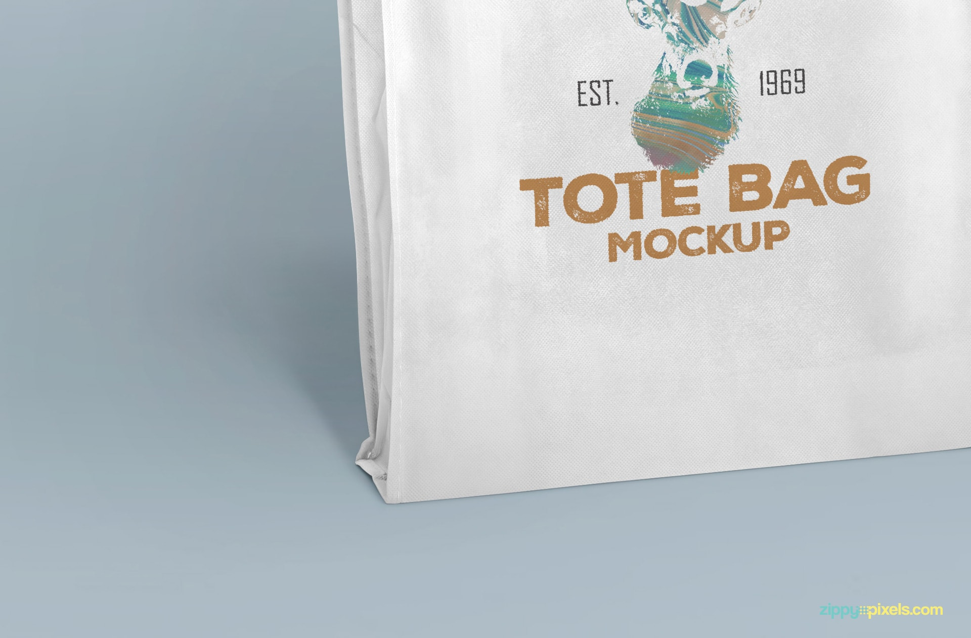 Free shopping bag mockup with editable colors
