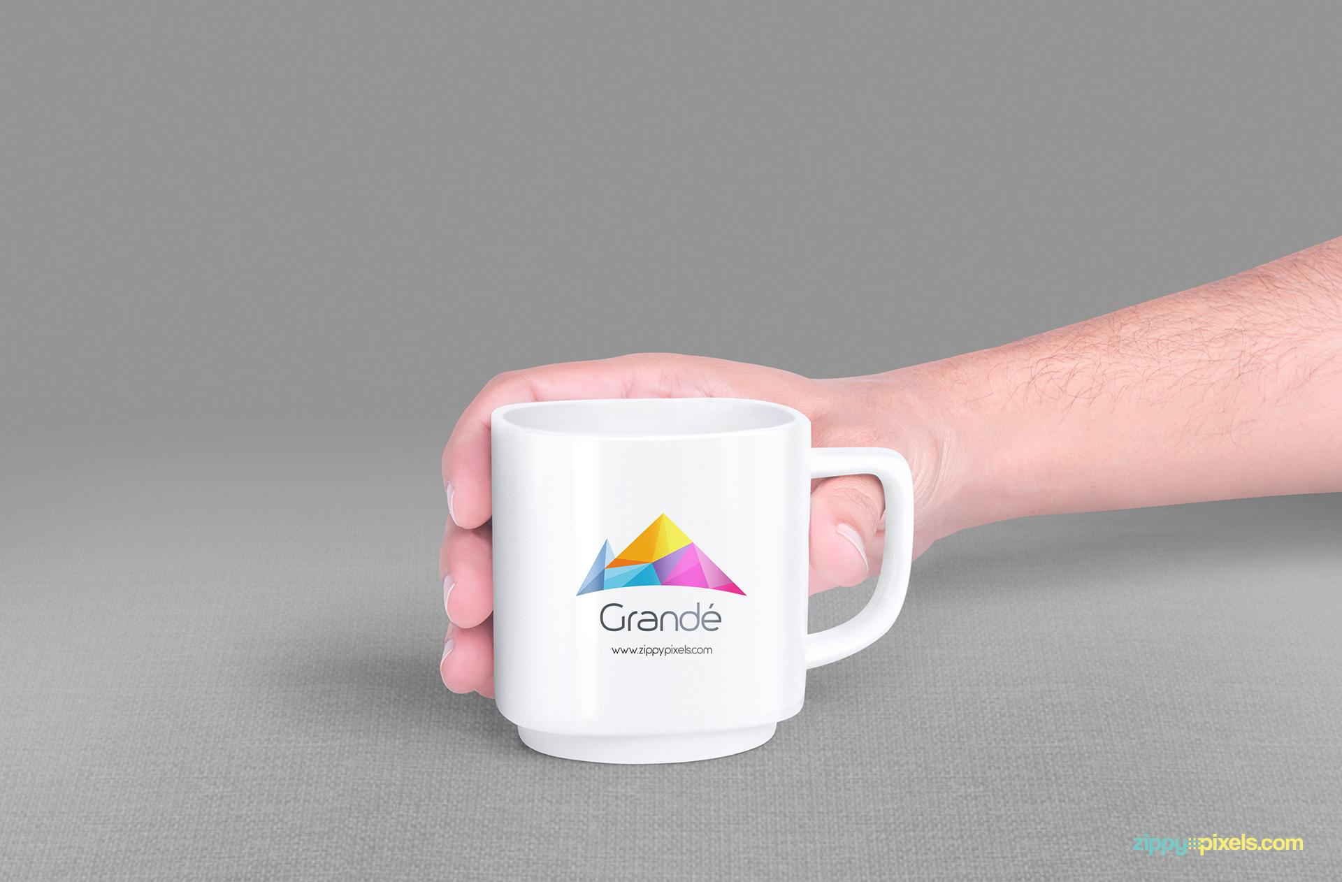 Professionally designed premium mug mockup.