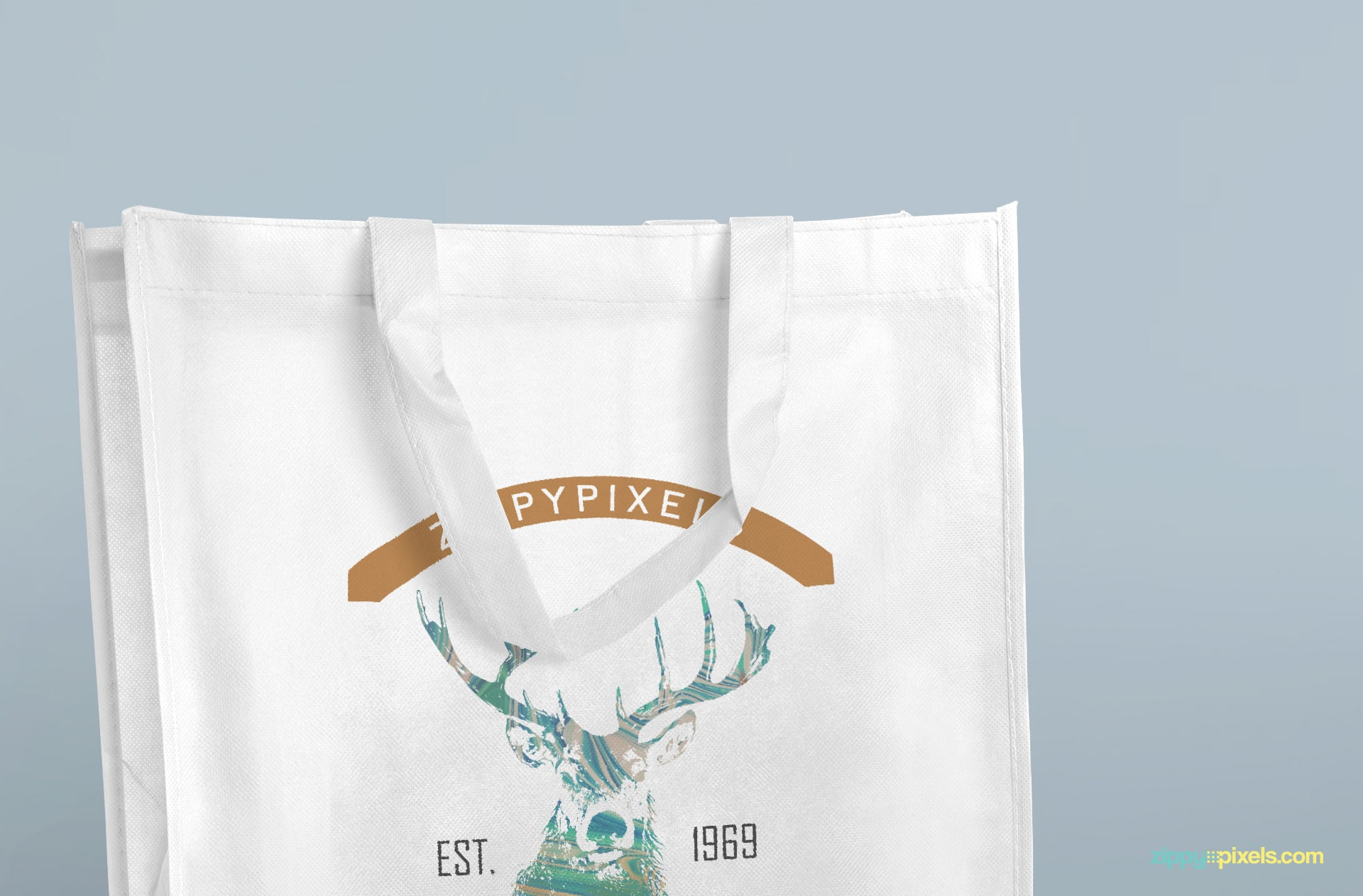 Free tote bags with changeable backgrounds.