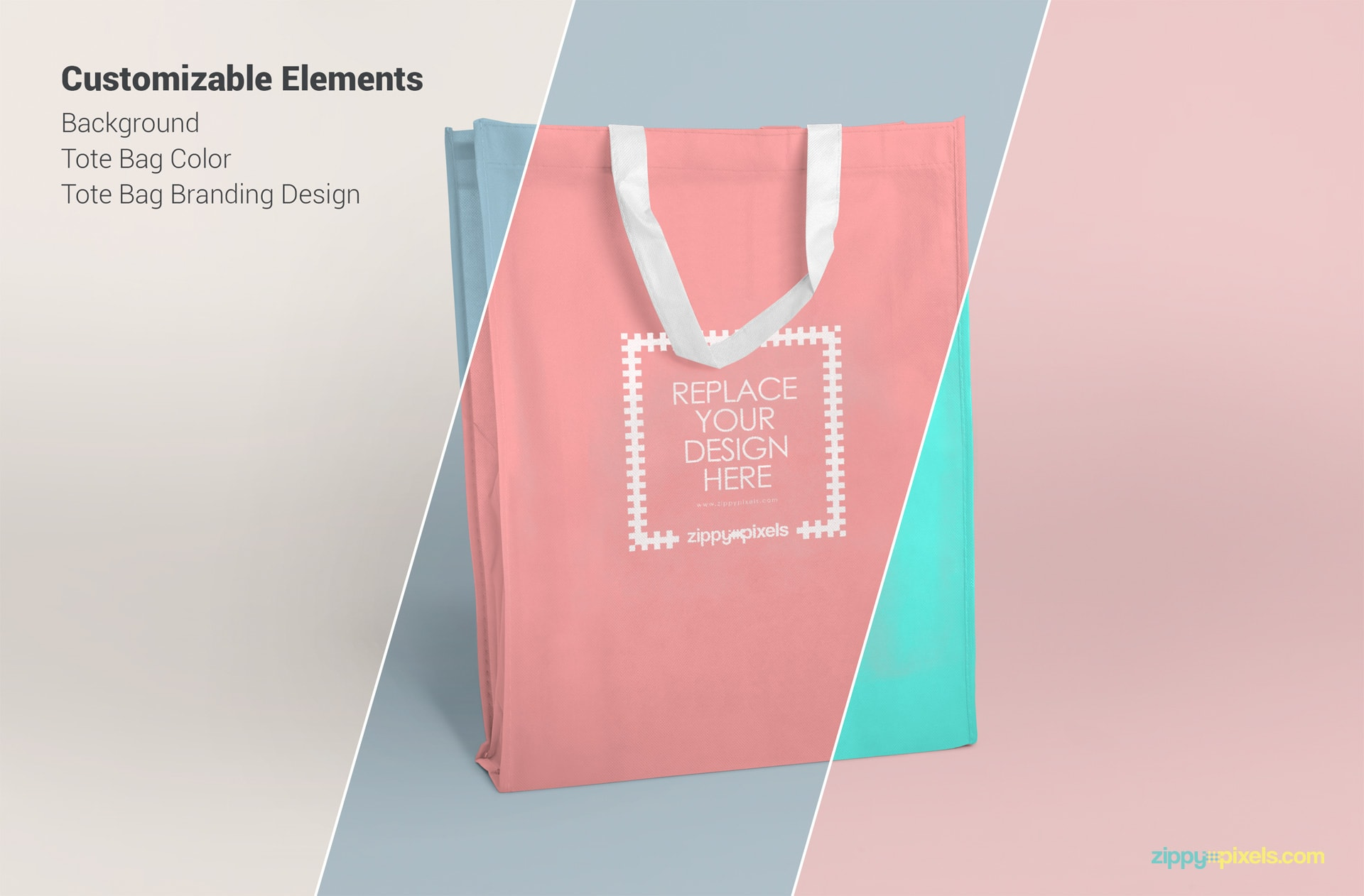 Free fabric tote bag PSD mockups