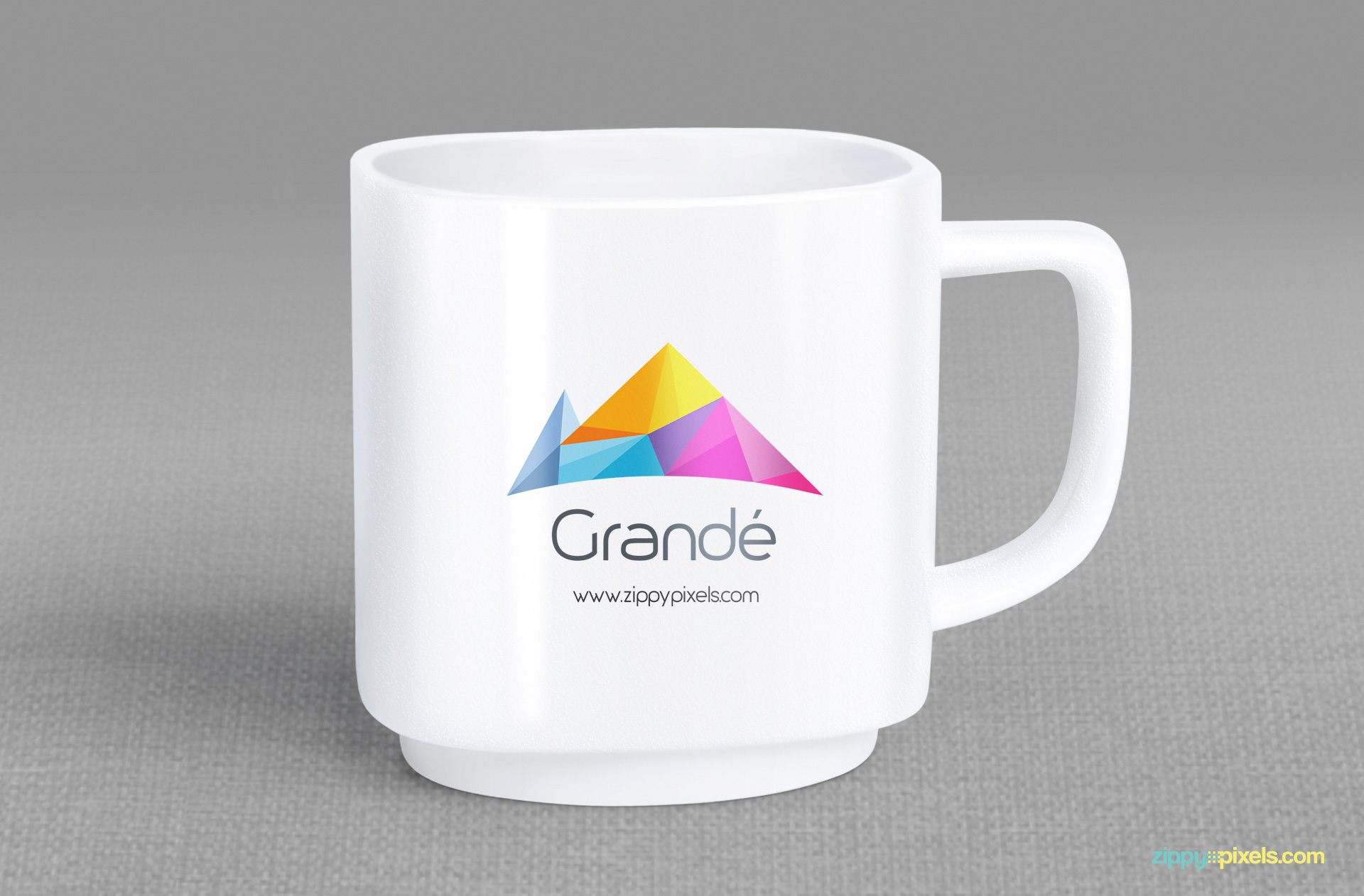 Add your branding design on the exterior of the mug mockup.