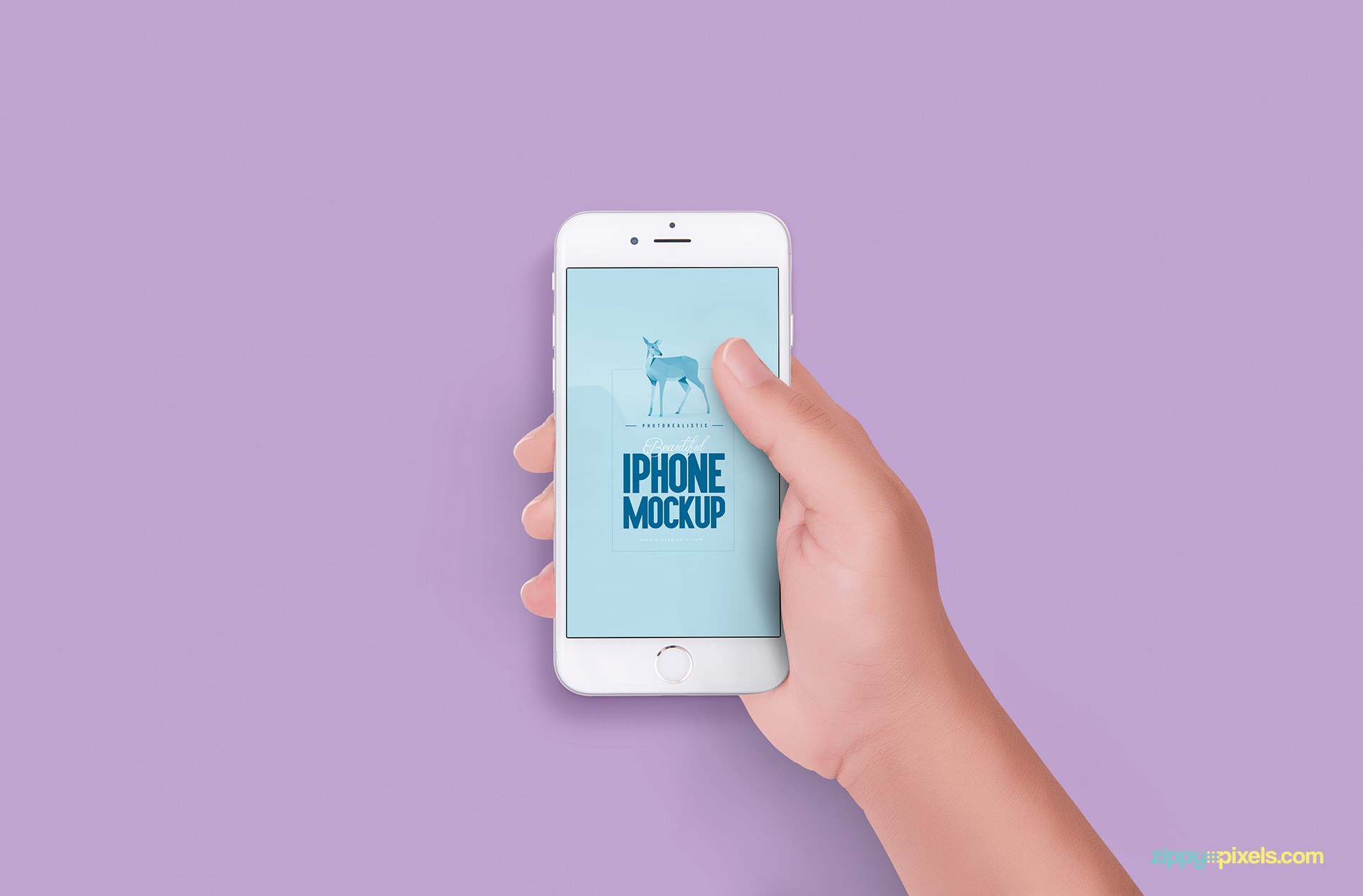 Free iPhone 6S design mockup for web designers