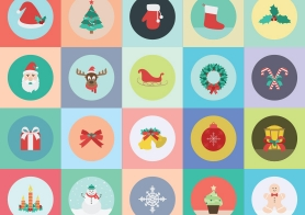 20 Free Christmas Icons Pack (AI, EPS, SVG, PNG Formats Included)