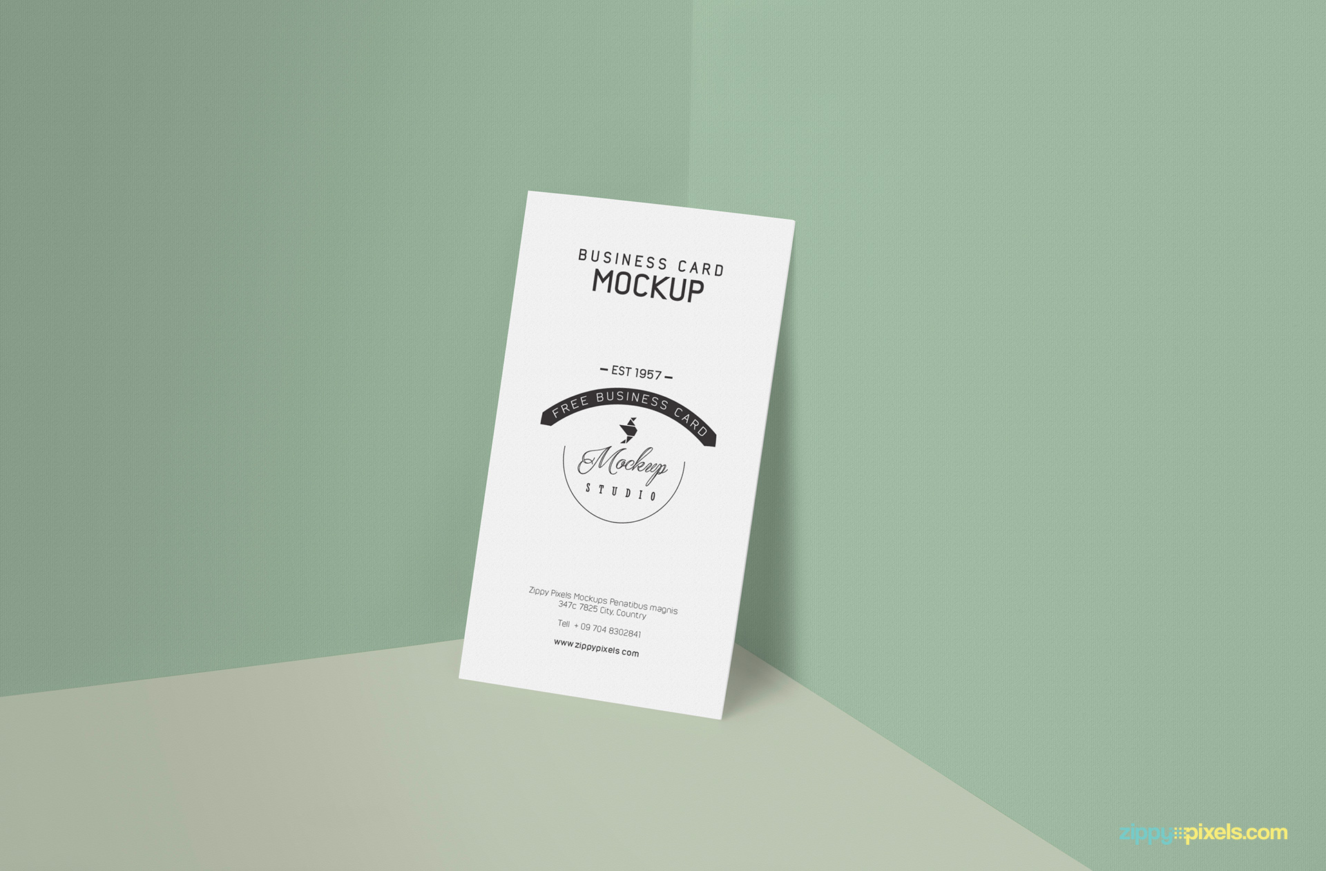 Free business card mockup in PSD format