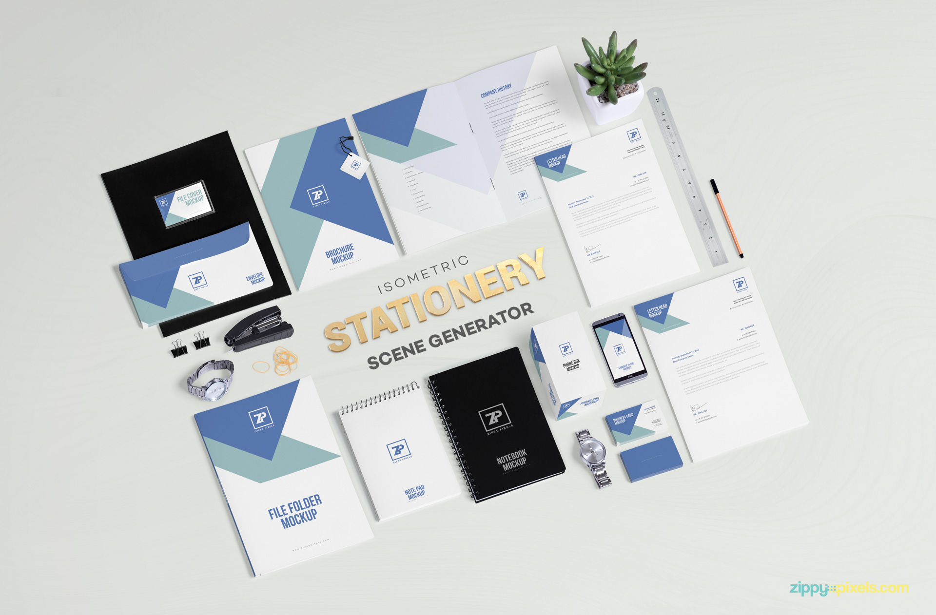 Free stationery mockup scene generator for bringing eye candy to your brand designs