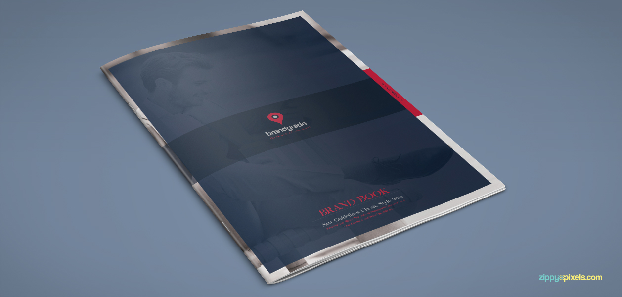 Free brand guidelines template to present your brand designs
