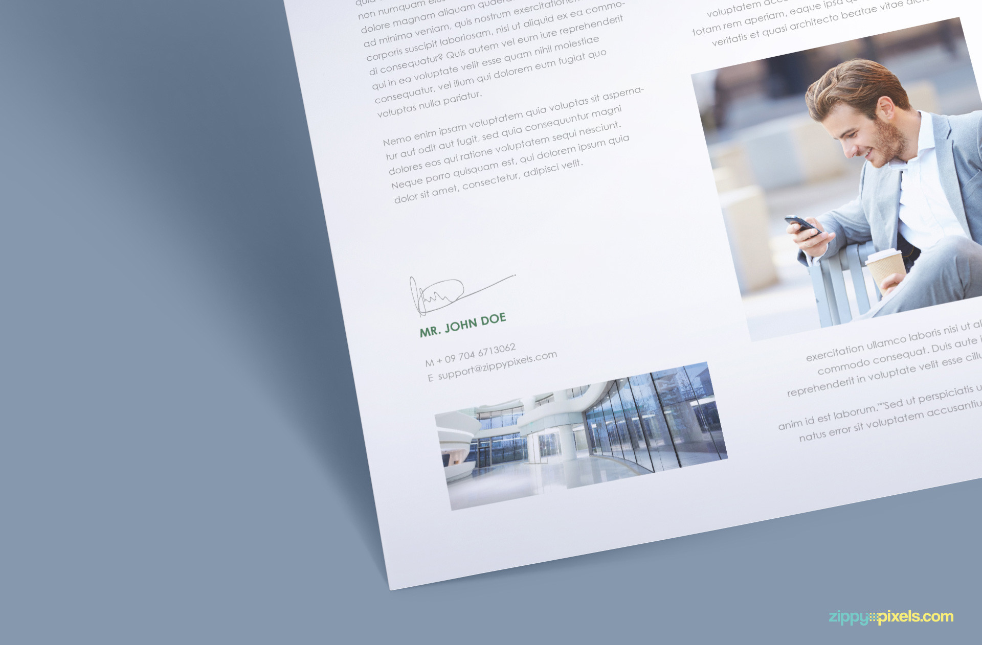 a4 paper PSD mockup for branding