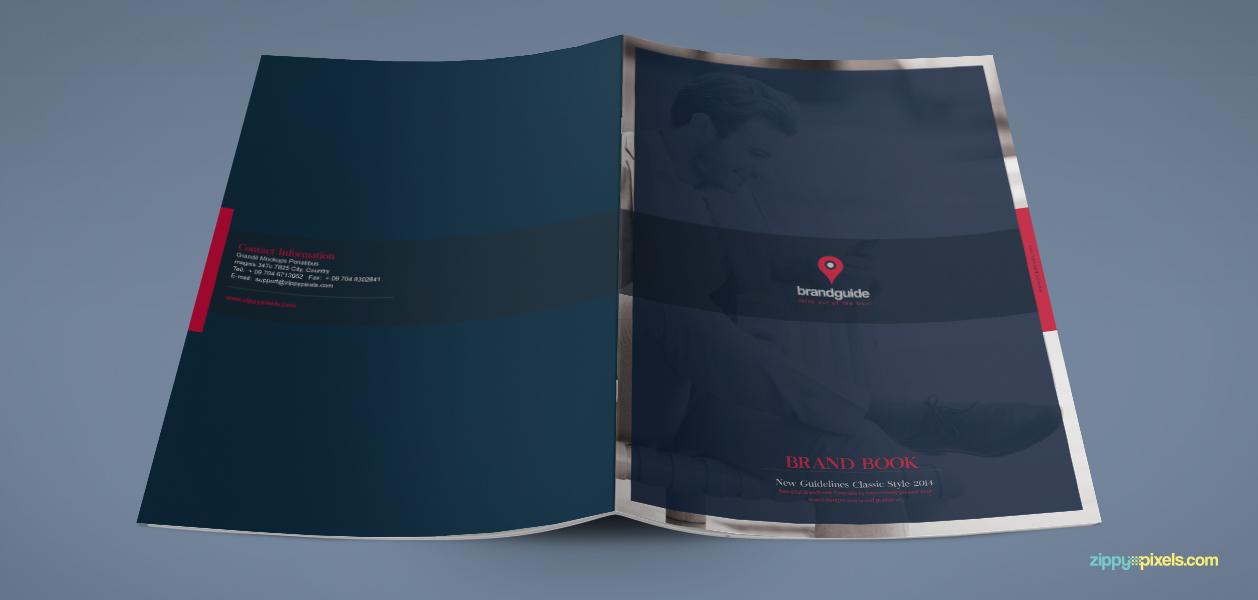 Free brandbook template with minimalistic layout
