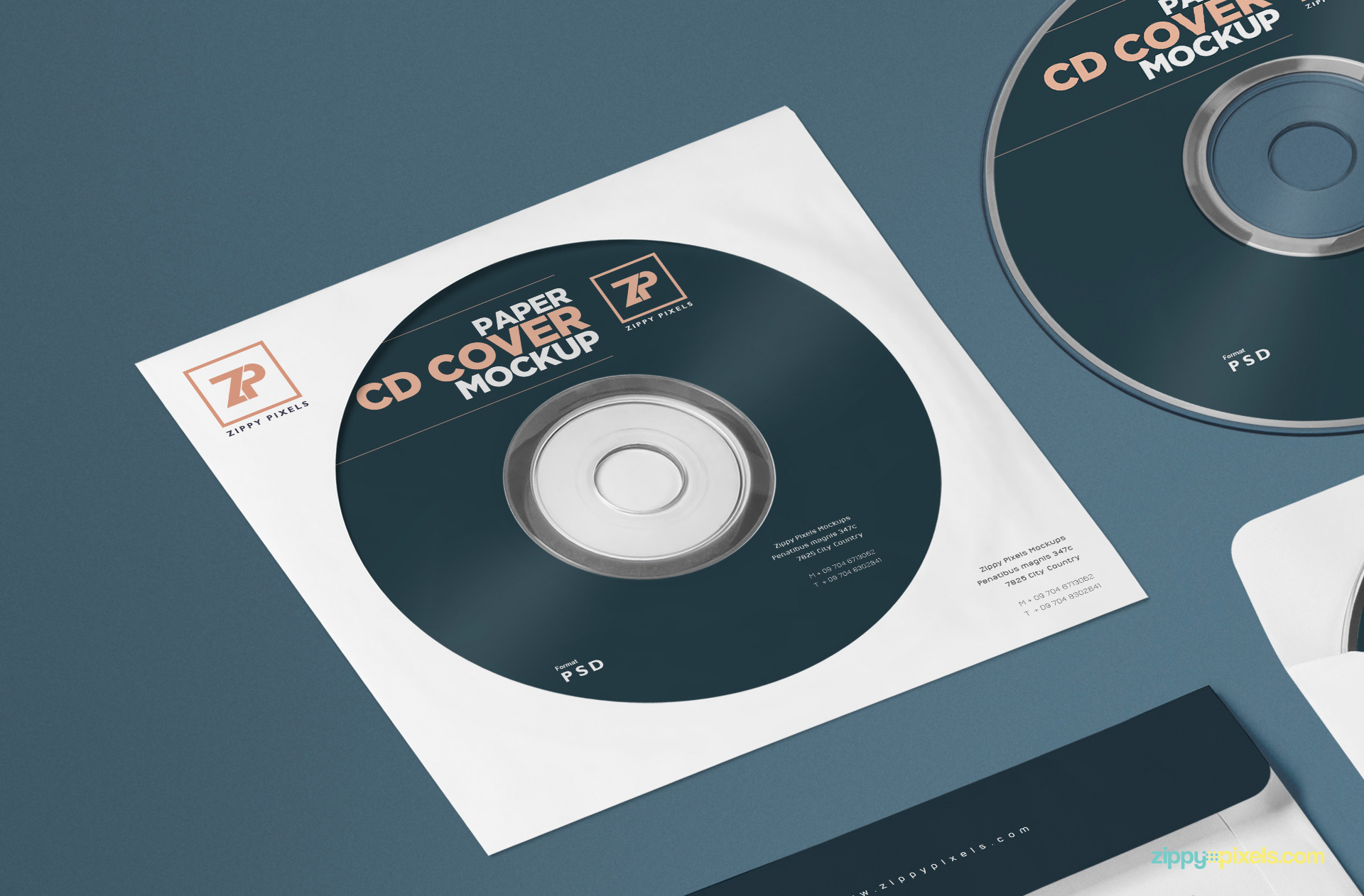 Free cd front label mockup design