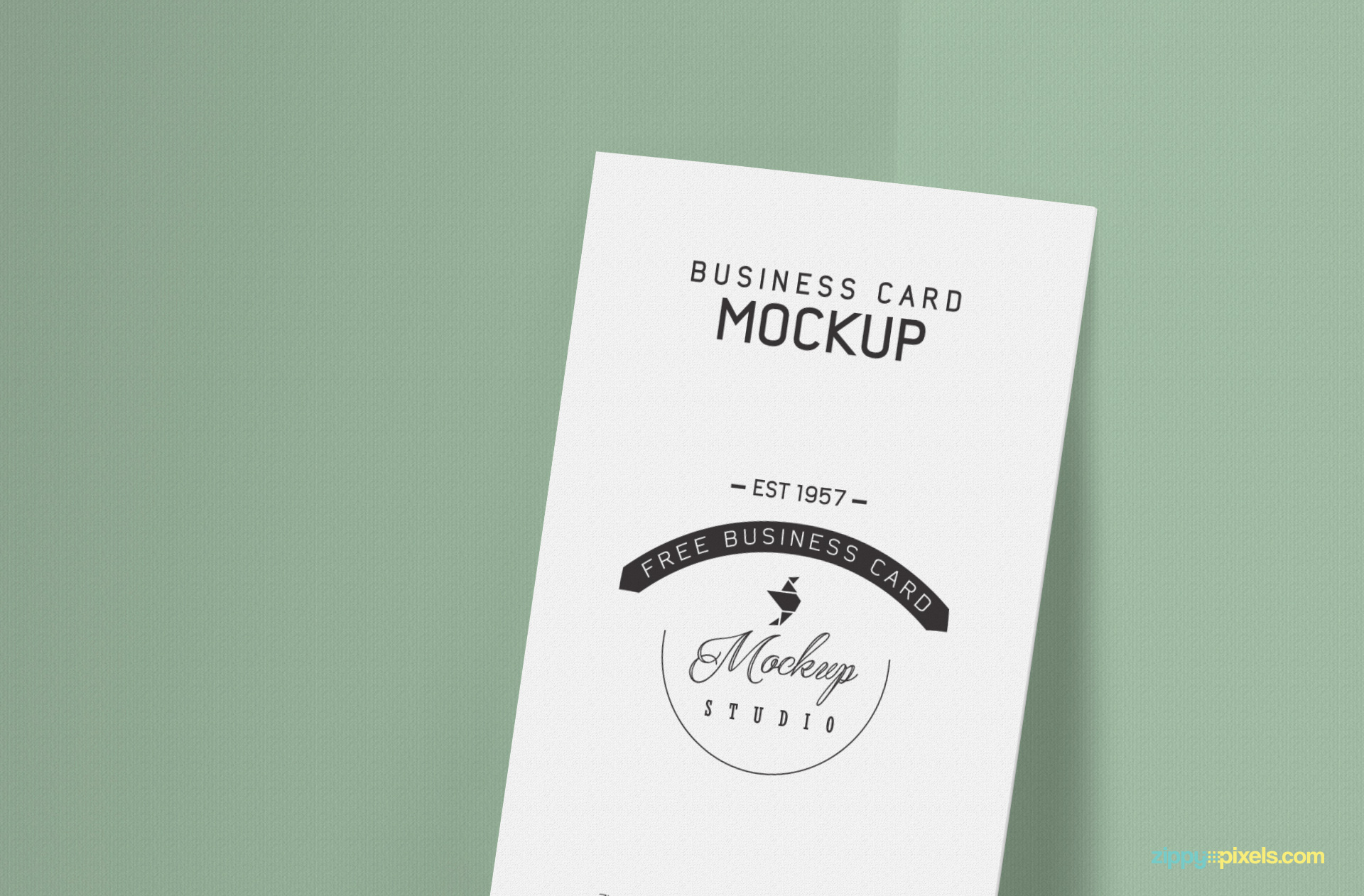 Free business card mockup for your card design presentations