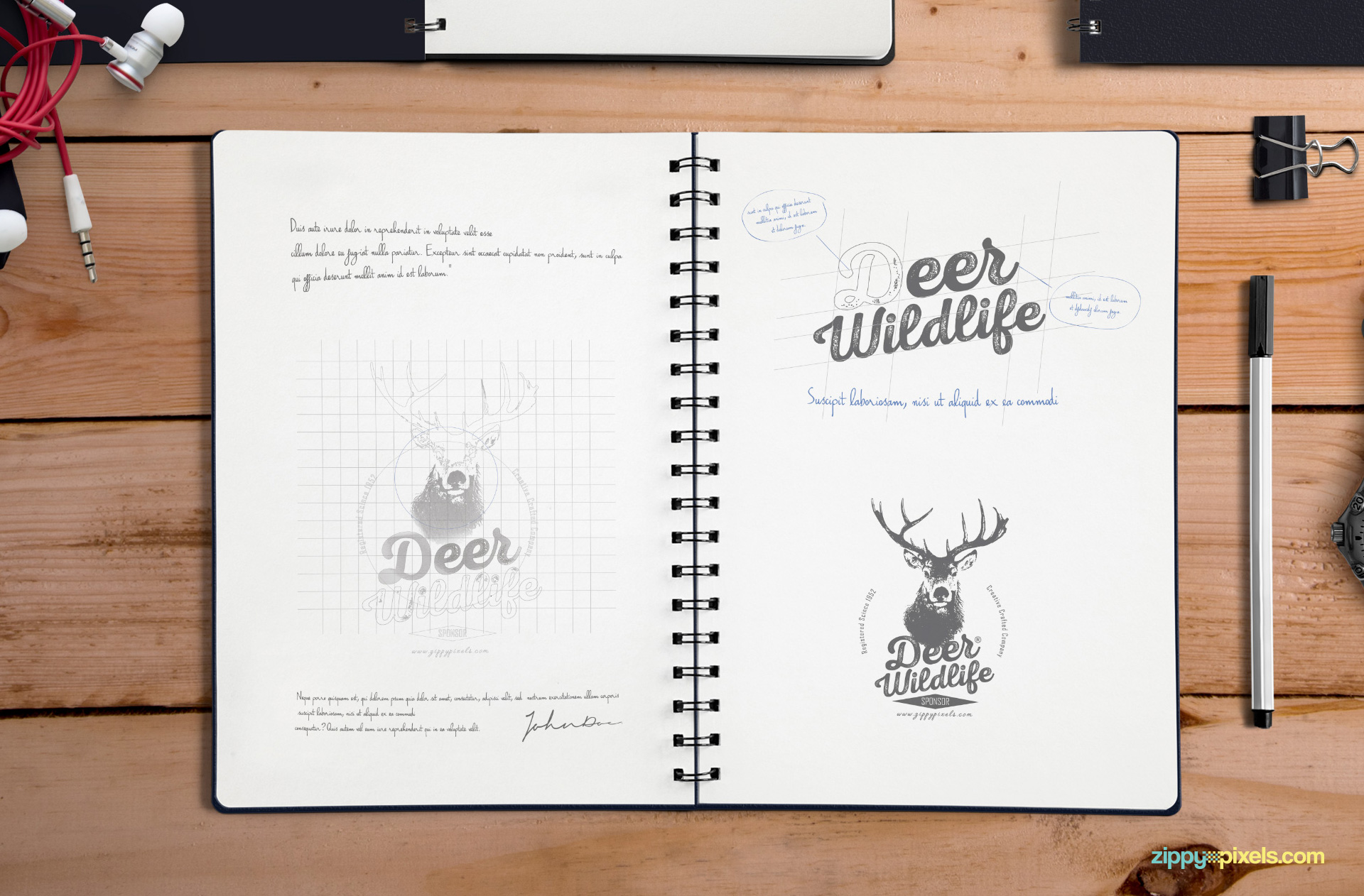 cool drawings on notebook paper