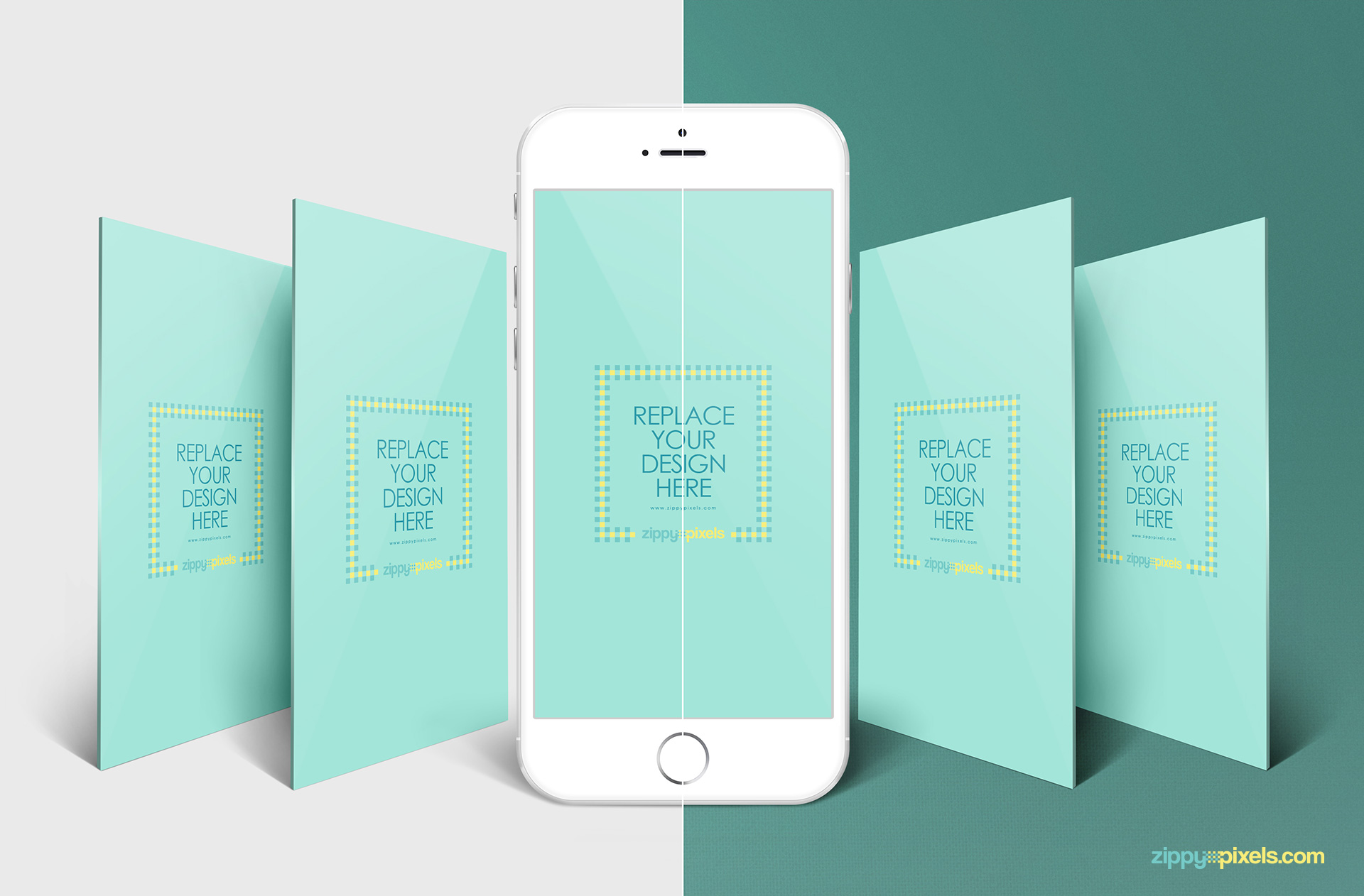 iphone perspective mockup app screen mockups zippypixels. Black Bedroom Furniture Sets. Home Design Ideas