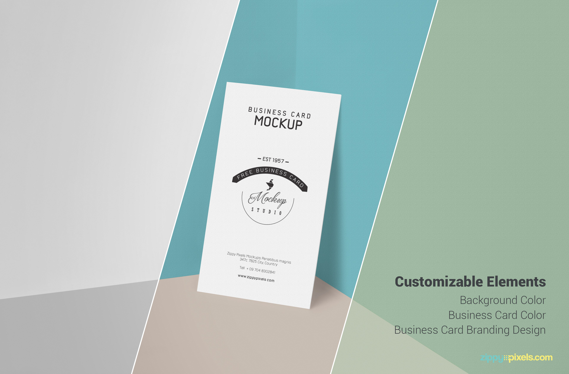 Free editable PSD business card mockup