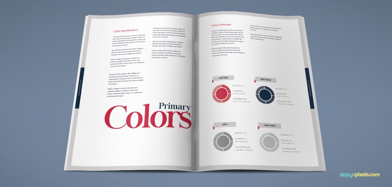 Free editable brand book template