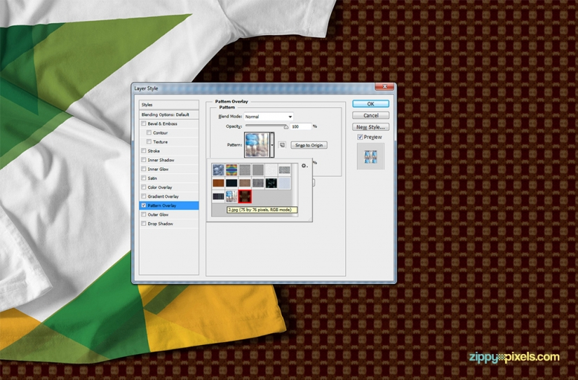 Easy to use photoshop patterns