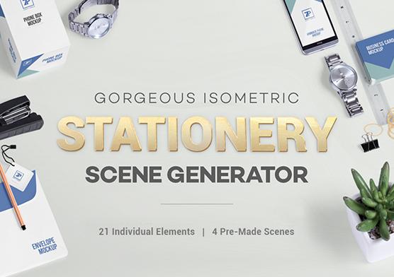 free stationery mockup scene generator zippypixels