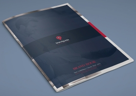 Clean brand guidelines manual template brandbook for Free brand guidelines template