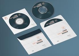 Free Isometric Paper CD Cover Mockup & CD Mockup Generator