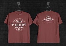 Vintage Styled Free T-Shirt Mockup (Round Neck)