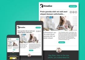 Kreative – Free Email Newsletter Template (MailChimp & Campaign Monitor Compatible)
