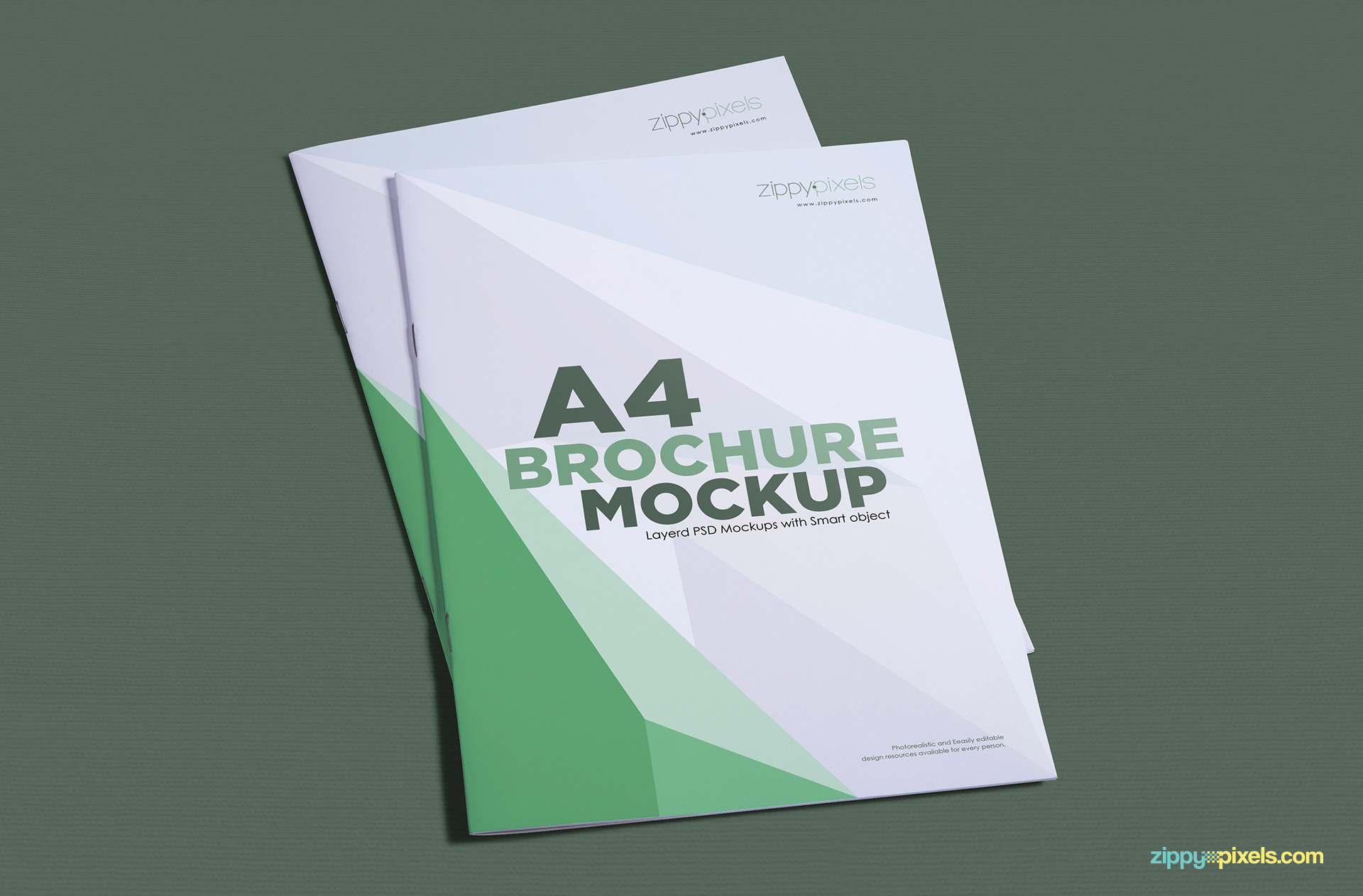 Free a4 brochure mockup zippypixels for Free brochure psd templates