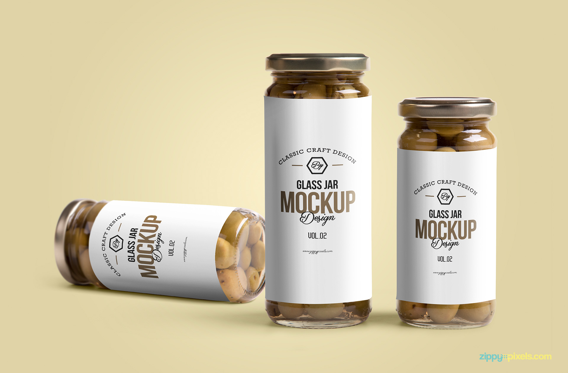 Display your label design realistically on this free glass jar mockup