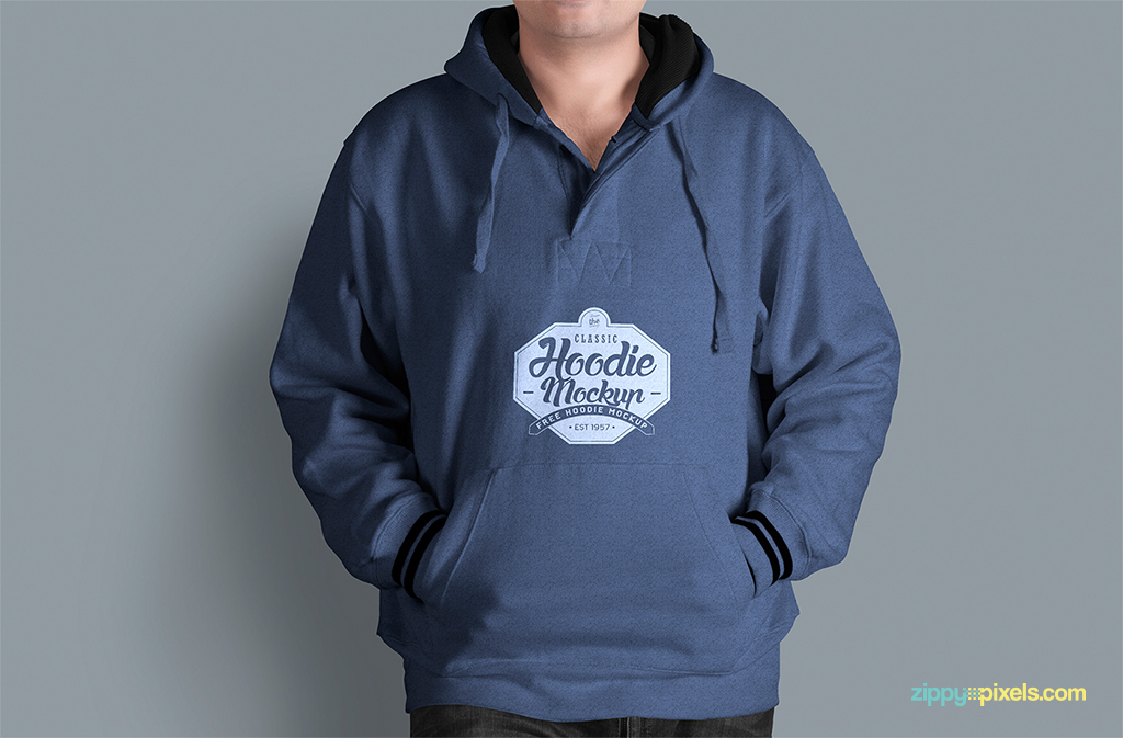 free hoodie mockup for your apparel designs