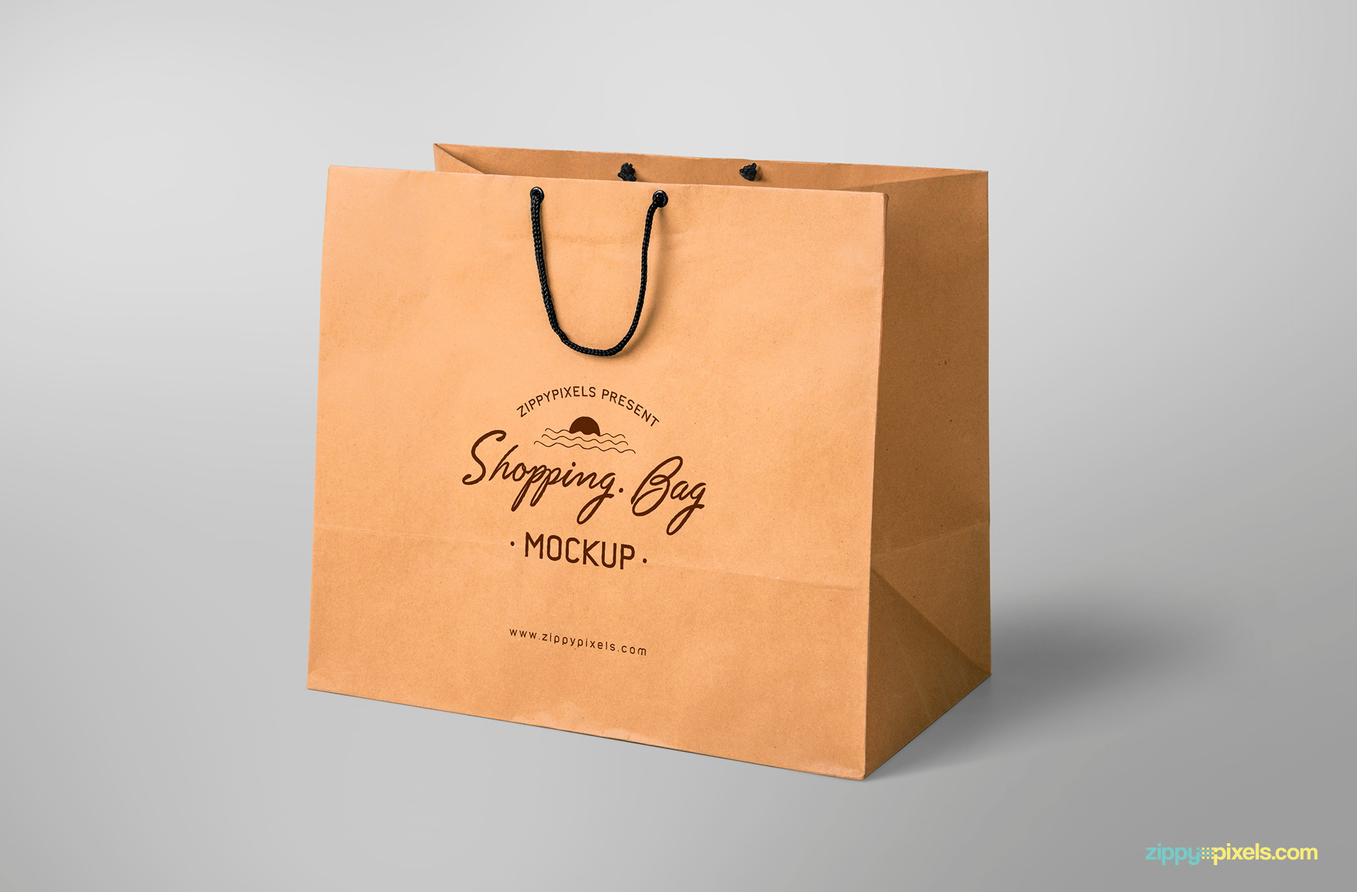 free shopping bag mockup with editable design