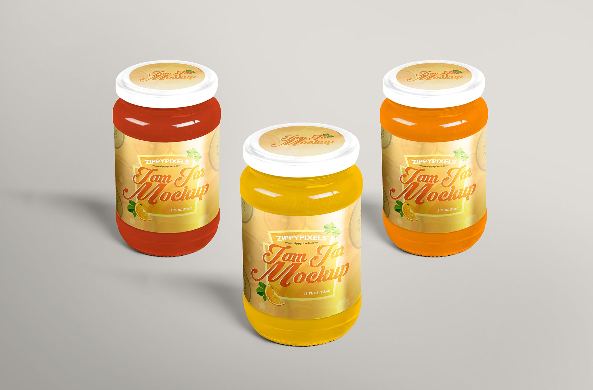 jam jar mockup for labelling designs