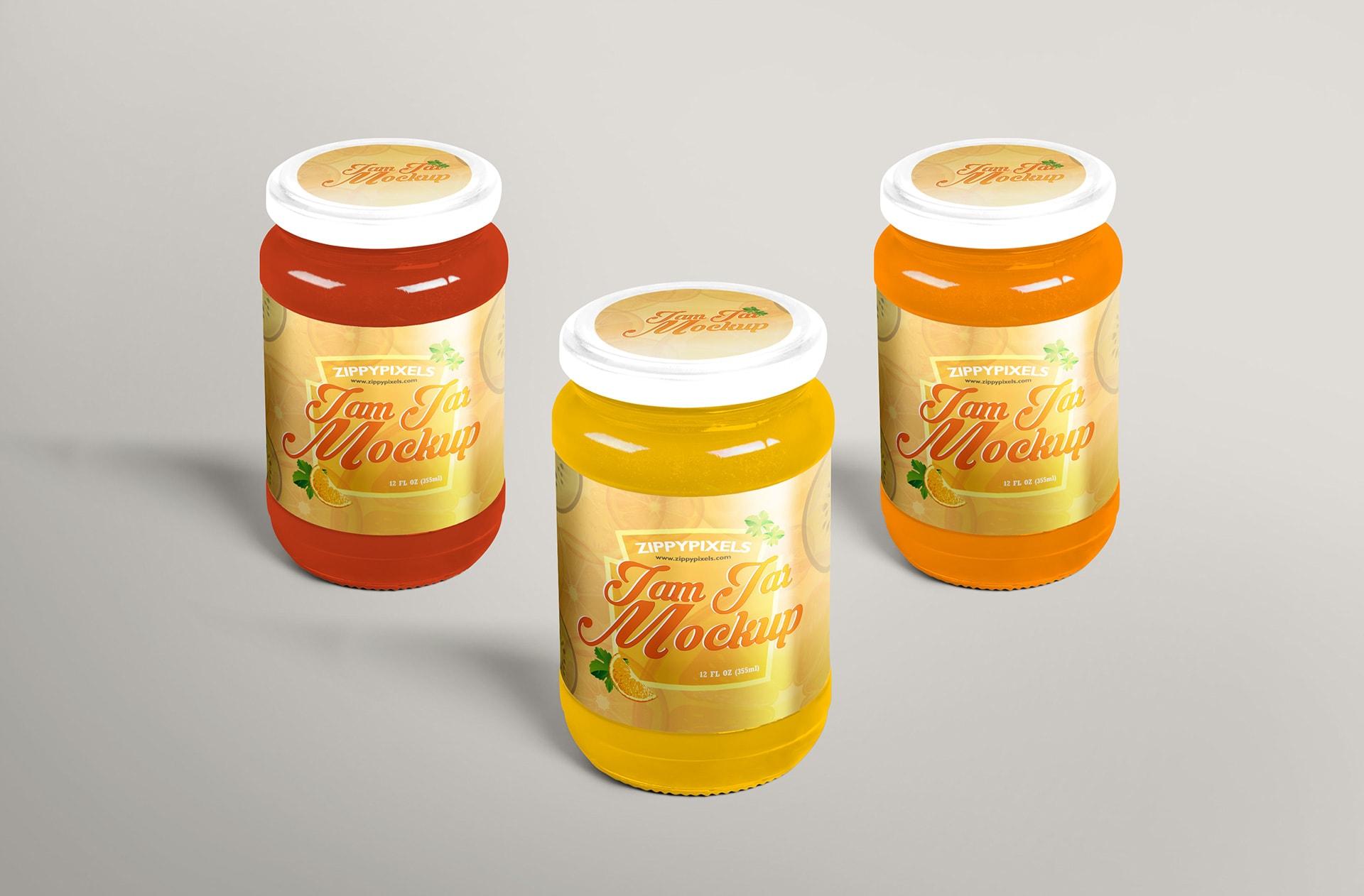 jam jar mockup for labelling designs