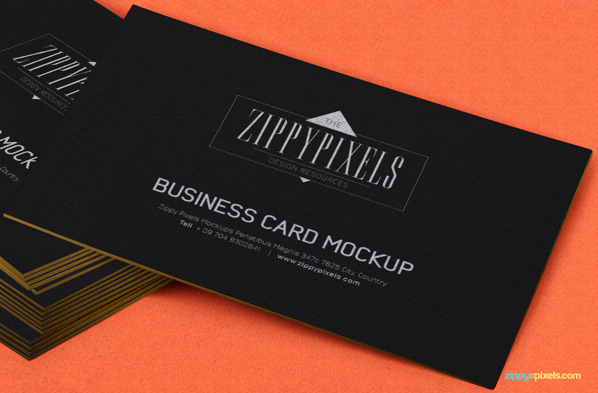 Free business card psd mockup zippypixels for Psd business card mockup